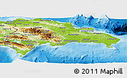 Physical Panoramic Map of Dominican Republic