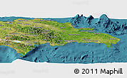 Satellite Panoramic Map of Dominican Republic