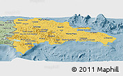 Savanna Style Panoramic Map of Dominican Republic