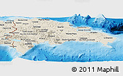 Shaded Relief Panoramic Map of Dominican Republic