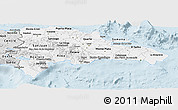 Silver Style Panoramic Map of Dominican Republic