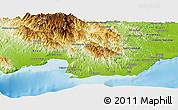 Physical Panoramic Map of Peravia
