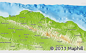 Physical 3D Map of Puerto Plata