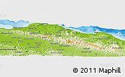 Physical Panoramic Map of Puerto Plata