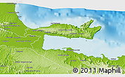 Physical 3D Map of Samana