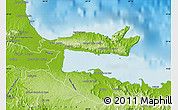 Physical Map of Samana