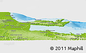 Physical Panoramic Map of Samana