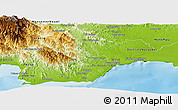Physical Panoramic Map of San Cristobal