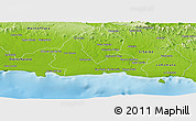 Physical Panoramic Map of San Pedro de Macoris