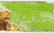 Physical 3D Map of Sanchez Ramirez