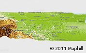 Physical Panoramic Map of Sanchez Ramirez