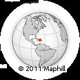 Outline Map of Santiago Rodriguez