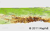 Physical Panoramic Map of Santiago Rodriguez