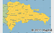 Savanna Style Simple Map of Dominican Republic