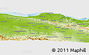 Physical Panoramic Map of Valverde