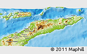 Physical 3D Map of East Timor