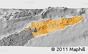 Political Shades 3D Map of East Timor, desaturated