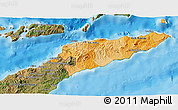 Political Shades 3D Map of East Timor, satellite outside, bathymetry sea