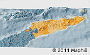 Political Shades 3D Map of East Timor, semi-desaturated
