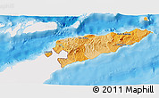 Political Shades 3D Map of East Timor, single color outside