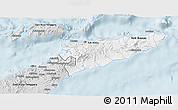 Silver Style 3D Map of East Timor