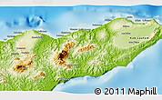Physical 3D Map of Kab. Baucau