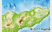 Physical Map of Kab. Baucau