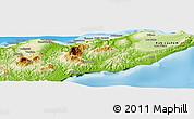 Physical Panoramic Map of Kab. Baucau