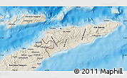 Shaded Relief Map of East Timor