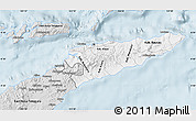 Silver Style Map of East Timor