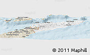 Classic Style Panoramic Map of East Timor