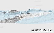 Gray Panoramic Map of East Timor