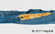 Political Shades Panoramic Map of East Timor, darken