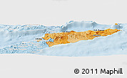 Political Shades Panoramic Map of East Timor, lighten