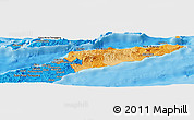 Political Shades Panoramic Map of East Timor
