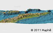 Satellite Panoramic Map of East Timor