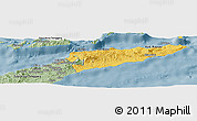 Savanna Style Panoramic Map of East Timor