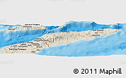 Shaded Relief Panoramic Map of East Timor