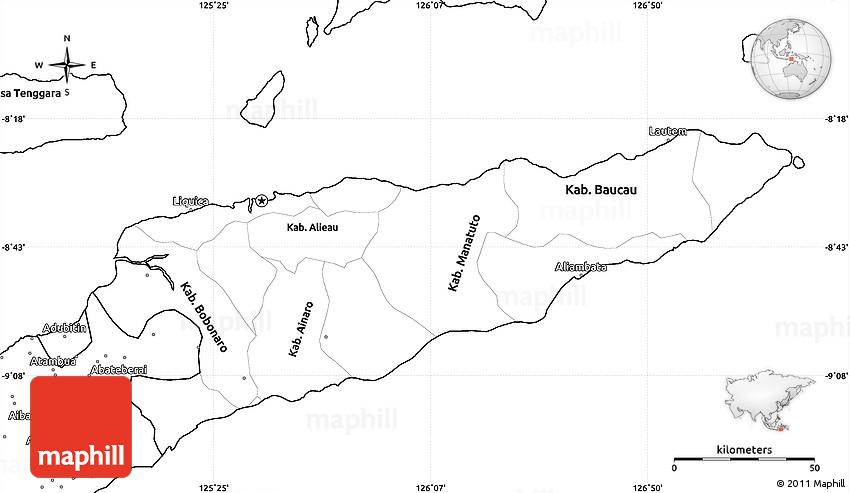 Blank Simple Map Of East Timor - East timor seetimor leste map vector