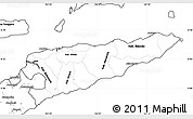 Blank Simple Map of East Timor