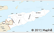 Classic Style Simple Map of East Timor