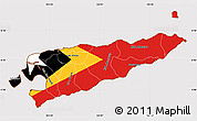 Flag Simple Map of East Timor