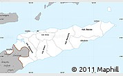 Gray Simple Map of East Timor