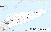 Silver Style Simple Map of East Timor