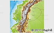 Physical 3D Map of Ecuador