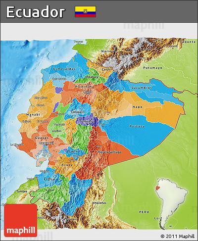 Free Political D Map Of Ecuador Physical Outside - Physical map of ecuador