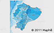 Political Shades 3D Map of Ecuador, single color outside