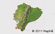 Satellite 3D Map of Ecuador, cropped outside