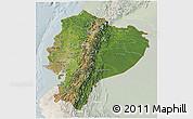 Satellite 3D Map of Ecuador, lighten