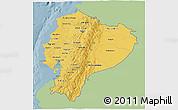 Savanna Style 3D Map of Ecuador, single color outside